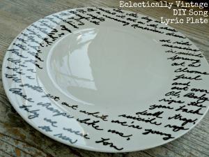 lyric plate